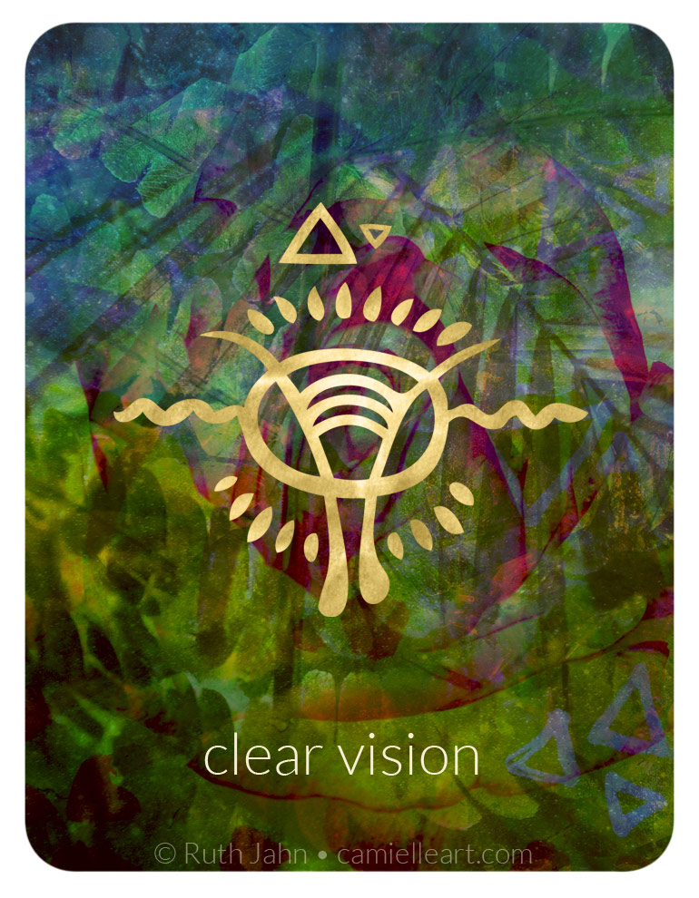 """Soul Code """"clear vision"""" by Artist C'amiëlle (Ruth Jahn), 2020"""