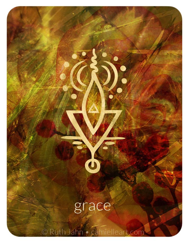 "Soul Code ""grace. elegance"" by Artist C'amiëlle (Ruth Jahn), 2020"