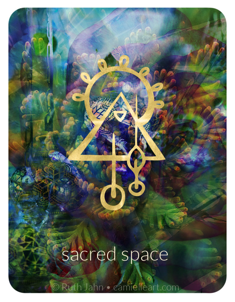 """Soul Code """"sacred space. temple. oasis"""" by Artist C'amiëlle (Ruth Jahn), 2020"""