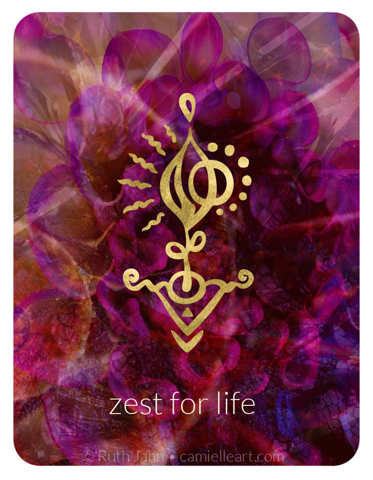 """Soul Code """"zest for life"""" by Artist C'amiëlle (Ruth Jahn), 2020"""