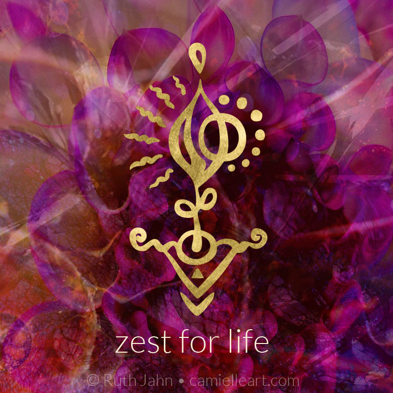 "Soul Code ""zest for life"" by Artist C'amiëlle (Ruth Jahn)"